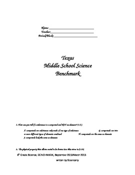 TEXAS Middle School Science BENCHMARK Assessment and Key