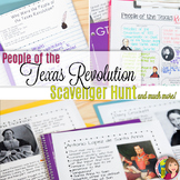 Texas History 7th Grade - TEXAS REVOLUTION Important People with DOODLE NOTES
