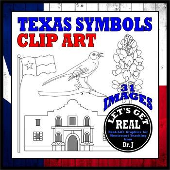 TEXAS SYMBOLS CLIP ART