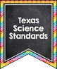 TEXAS (TEKS) SCIENCE STANDARDS BANNERS, 7th GRADE, RAINBOW & CHALKBOARD