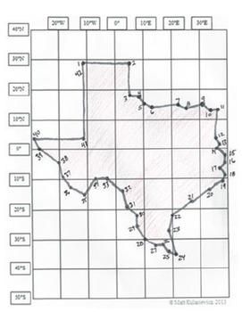 TEXAS - Texas Revolution Paintings, State Seal & Flag, and Latitude & Longitude