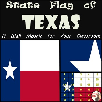 TEXAS - The State Flag of Texas Wall Mosaic