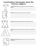 TEXAS body paragraph work sheet