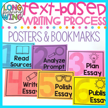 TEXT-BASED WRITING PROCESS POSTERS AND BOOKMARKS