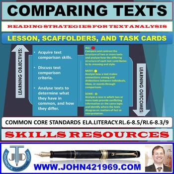 TEXT COMPARISON: LESSON & RESOURCES