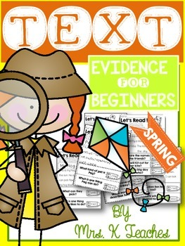 TEXT EVIDENCE-SPRING (FOR BEGINNERS)