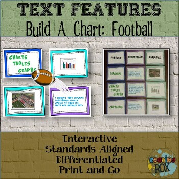 TEXT FEATURES: Build-a-Chart with task cards FOOTBALL EDITION!