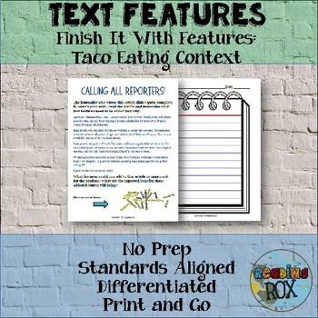 TEXT FEATURES Finish It with Features: Taco Eating Contest