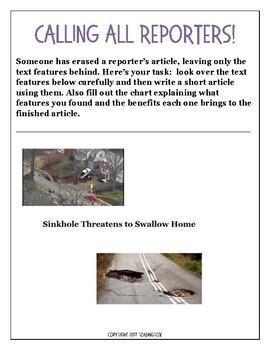 TEXT FEATURES Stolen Story: Sinkhole Threatens Home