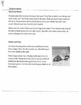 COLD READ, ASSESSMENT, LAFS, COMMON CORE ,TEXT FEATURES/ INFORMATIONAL PASSAGE