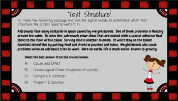 TEXT STRUCTURE Digital Task Cards (for Google Drive)