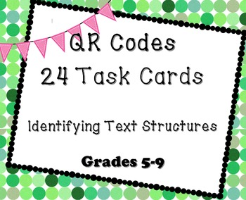 TEXT STRUCTURE TASK CARDS QR CODES HIGH INTEREST ACTIVITY 5 6 7 8 9