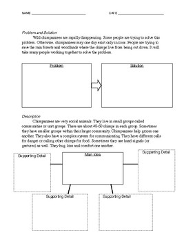 TEXT STRUCTURE WORKSHEET