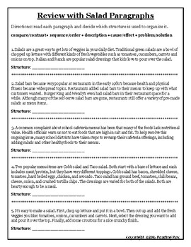 TEXT STRUCTURES freebie review and write about DONUTS