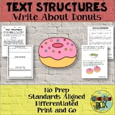 Text Structures: Freebie Review and Write About DONUTS