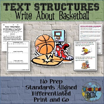 TEXT STRUCTURES: review then write about BASKETBALL-sports