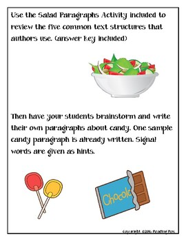 TEXT STRUCTURES review and write about CANDY