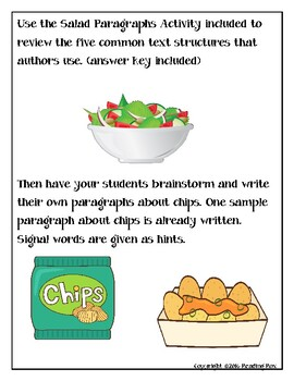 TEXT STRUCTURES review and write about CHIPS