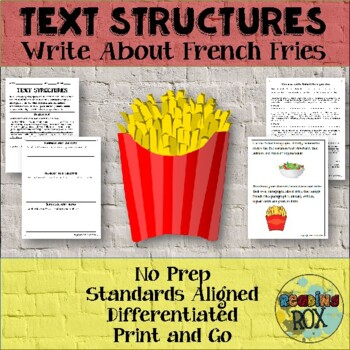 TEXT STRUCTURES review and write about FRENCH FRIES