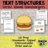 Text Structures Writing Activity: Hamburgers