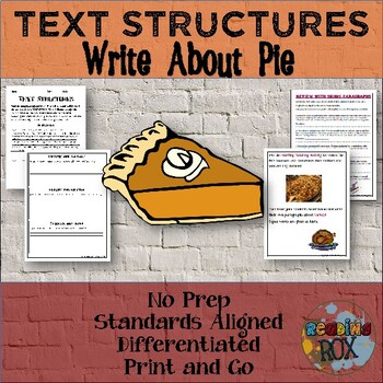 TEXT STRUCTURES: review then write about PIE-Thanksgiving Edition