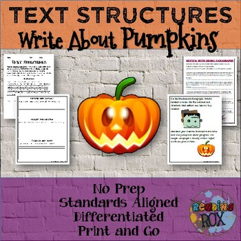 TEXT STRUCTURES review and write about PUMPKINS-Halloween Edition