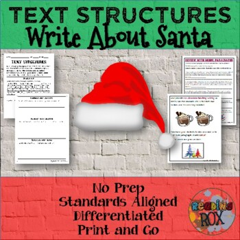 TEXT STRUCTURES: review then write about SANTA-winter holi