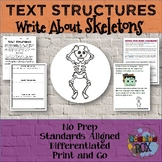 TEXT STRUCTURES review and write about SKELETONS-Halloween Edition