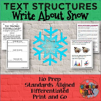 TEXT STRUCTURES: review then write about SNOW-winter holiday edition