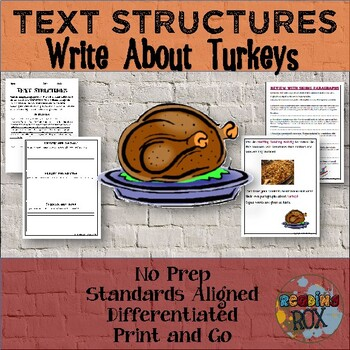 TEXT STRUCTURES review and write about TURKEY-Thanksgiving