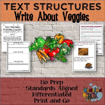TEXT STRUCTURES: review then write about VEGGIES-Thanksgiv