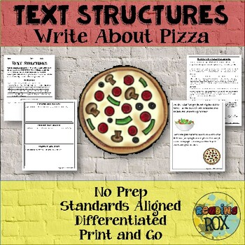TEXT STRUCTURES review and write about PIZZA