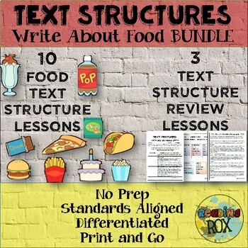 TEXT STRUCTURES review read write NO PREP mega bundle