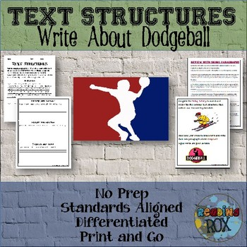 TEXT STRUCTURES: review then write about DODGEBALL-sports edition