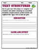 TEXT STRUCTURES: review then write about GOLF-sports edition