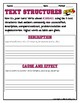 TEXT STRUCTURES: review then write about KICKBALL-sports edition