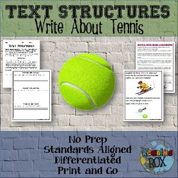 TEXT STRUCTURES: review then write about TENNIS-sports edition