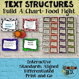TEXT STRUCTURES task cards-build a chart about FOOD FIGHTS!