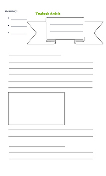 TEXTBOOK ARTICLE- BLANK TEMPLATE