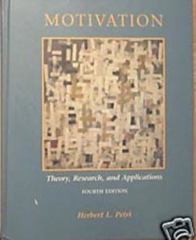 TEXTBOOK MOTIVATION PSYCHOLOGY THEORY RESEARCH AND APPLICATIONS petri Incl ship