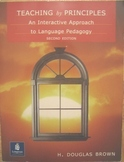 TEXTBOOK Teaching by Principles interactive approach language pedagogy INCship