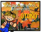 Análisis de texto informativo - Otoño