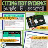 Citing Text Evidence Text Dependent Analysis Bundle 5 Less