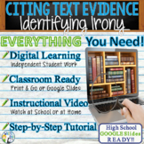 TEXT EVIDENCE / CONSTRUCTED RESPONSE Prompt - Identifying