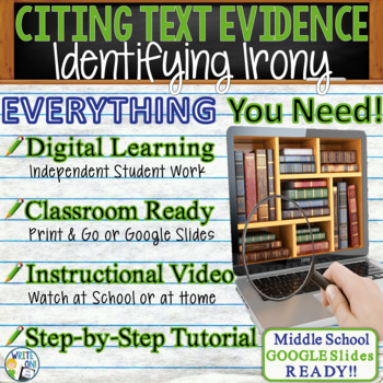 TEXT EVIDENCE / CONSTRUCTED RESPONSE Prompt -Identifying I