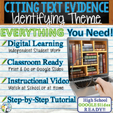TEXT EVIDENCE / CONSTRUCTED RESPONSE Prompt - Theme -High School