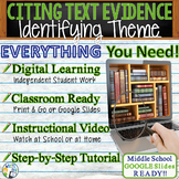 TEXT EVIDENCE / CONSTRUCTED RESPONSE Prompt - Theme -Middl