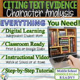 TEXT EVIDENCE / CONSTRUCTED RESPONSE Prompt -Character Ana