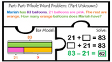 TEk 2.4A 2.4B 2.4C 2.4D PART PART WHOLE WORD PROBLEMS ALL