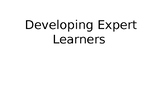 Beginning of the year - Developing expert learners